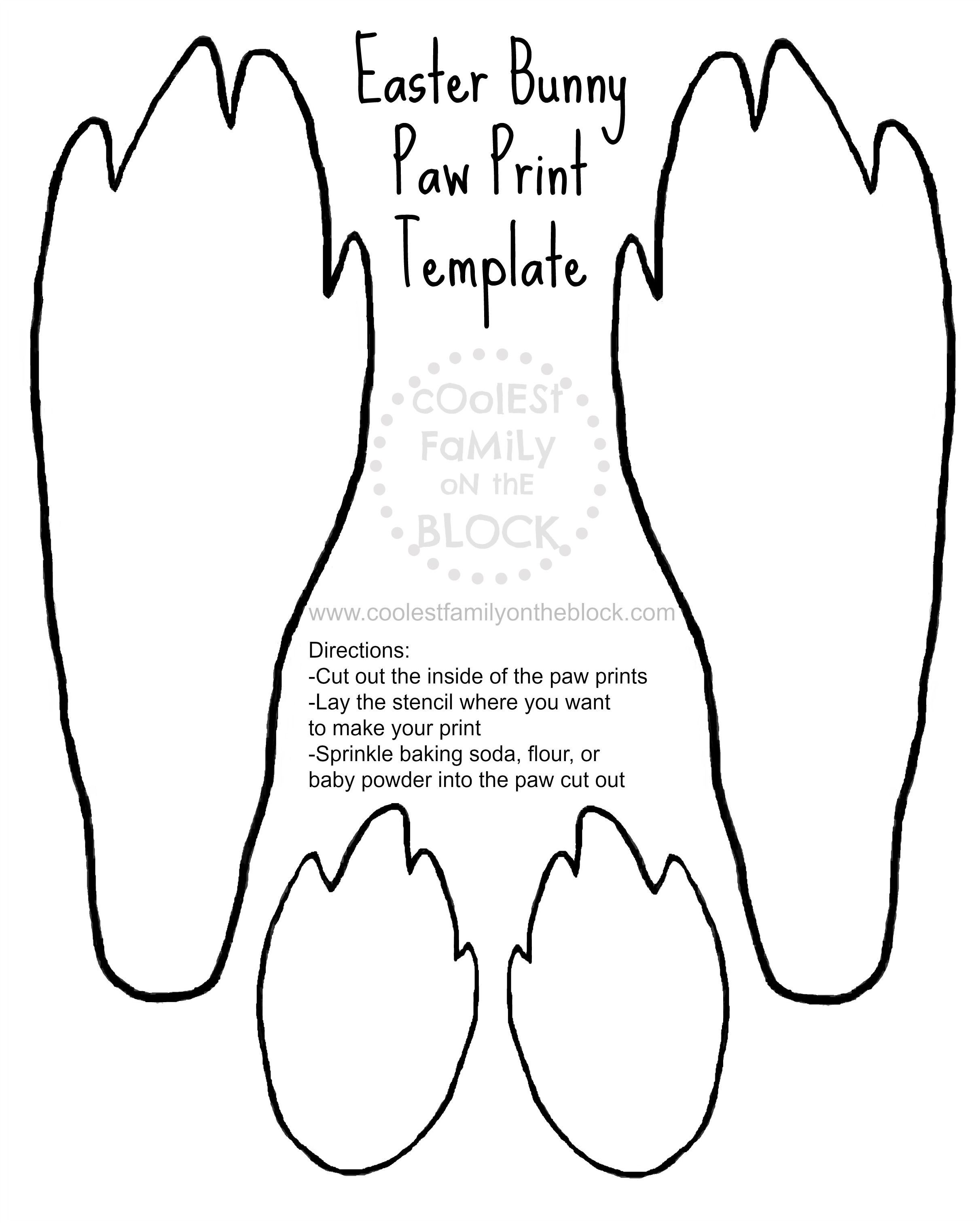 2423x3029 Free Printable Easter Bunny Paw Prints Template Front And Back