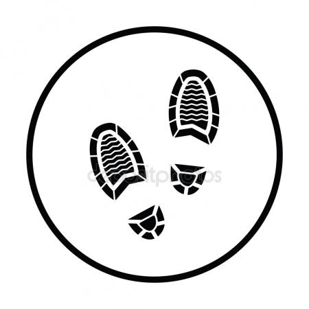 450x450 Man Footprint Icon Stock Vector Angelp