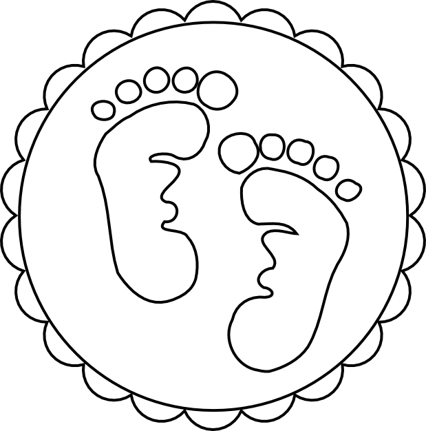 619x626 Scrapcation Getaway Baby Footprints Svg Amp Digi Stamp