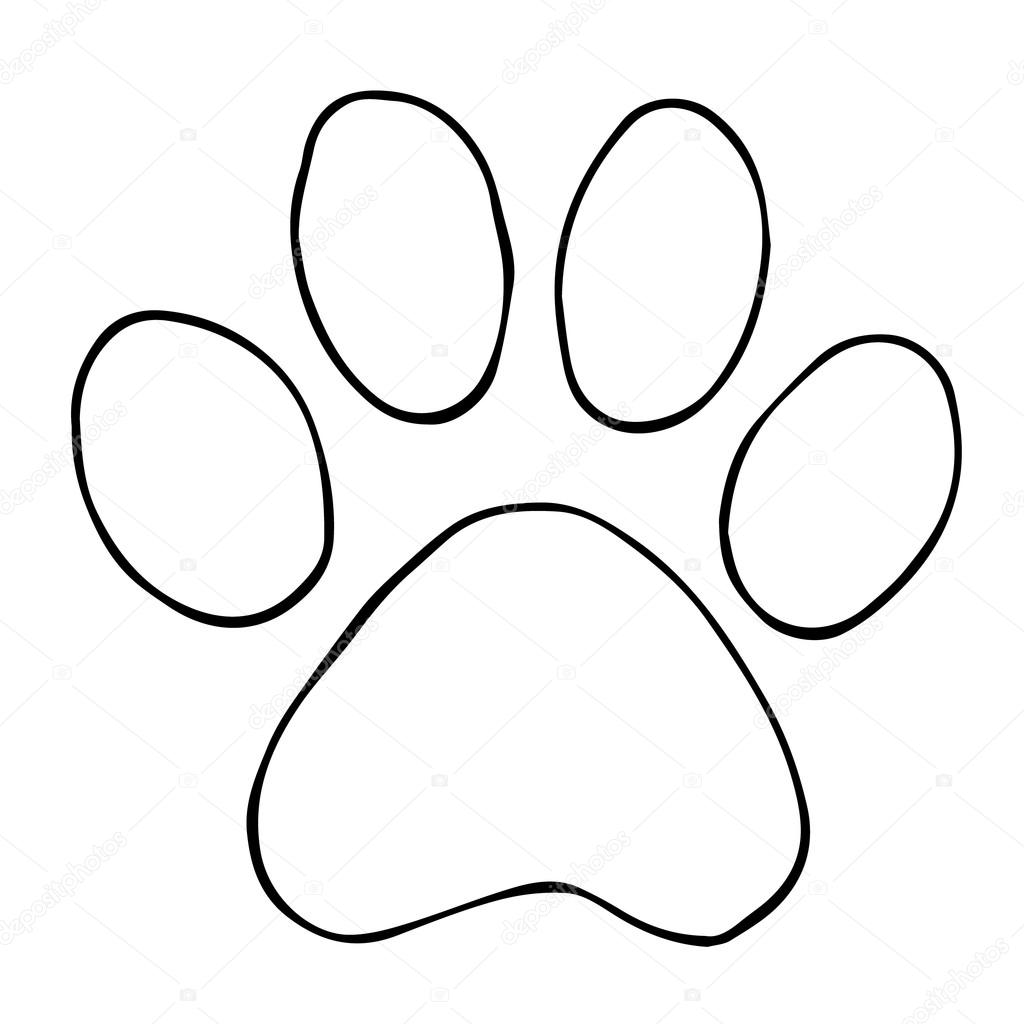 1024x1024 Trail Cats. Abstract Animal Footprint Vector Background