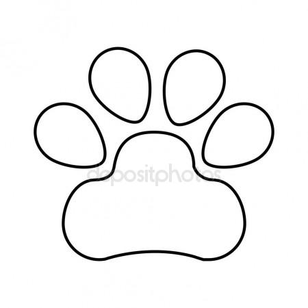450x450 Dog Footprint Isolated Icon Stock Vector Yupiramos