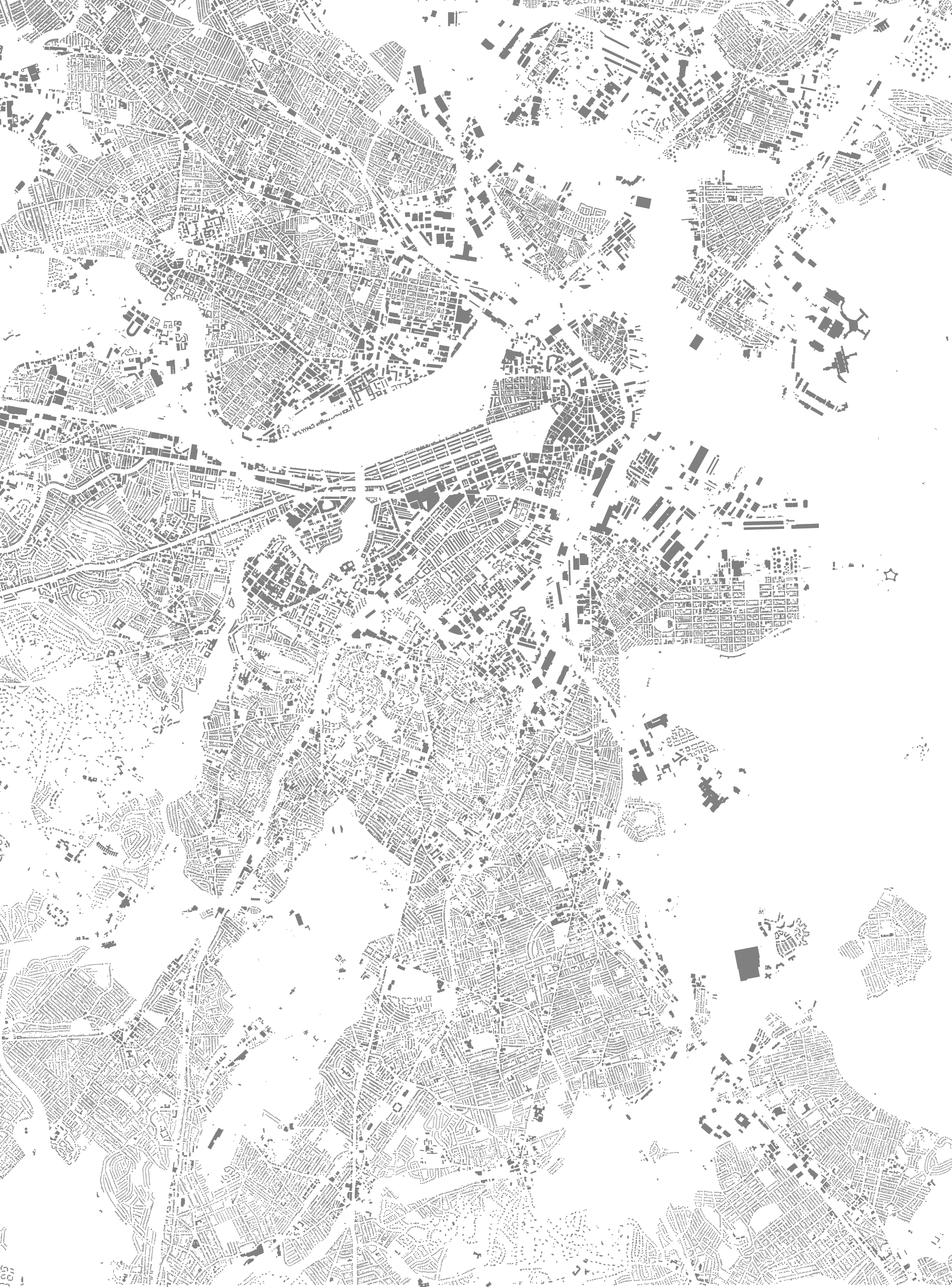 2087x2820 Footprints Of Boston Bostonography