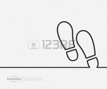 450x375 Receding Footprints Stock Photos. Royalty Free Receding Footprints