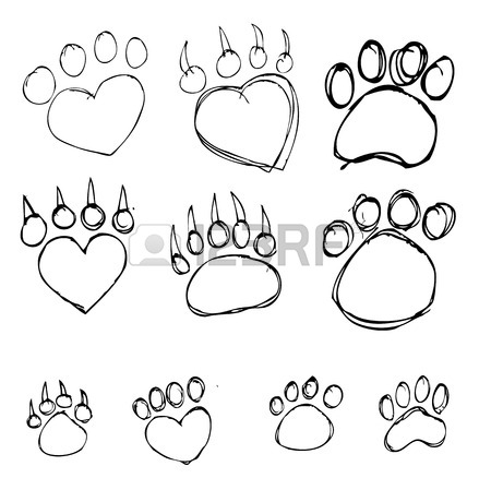 450x449 Set Of Animal Footprints For Ecology Design Royalty Free Cliparts