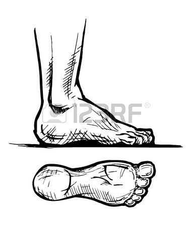 381x450 Vector Hand Drawn Footprint Concept Sketch With Prints Of Human