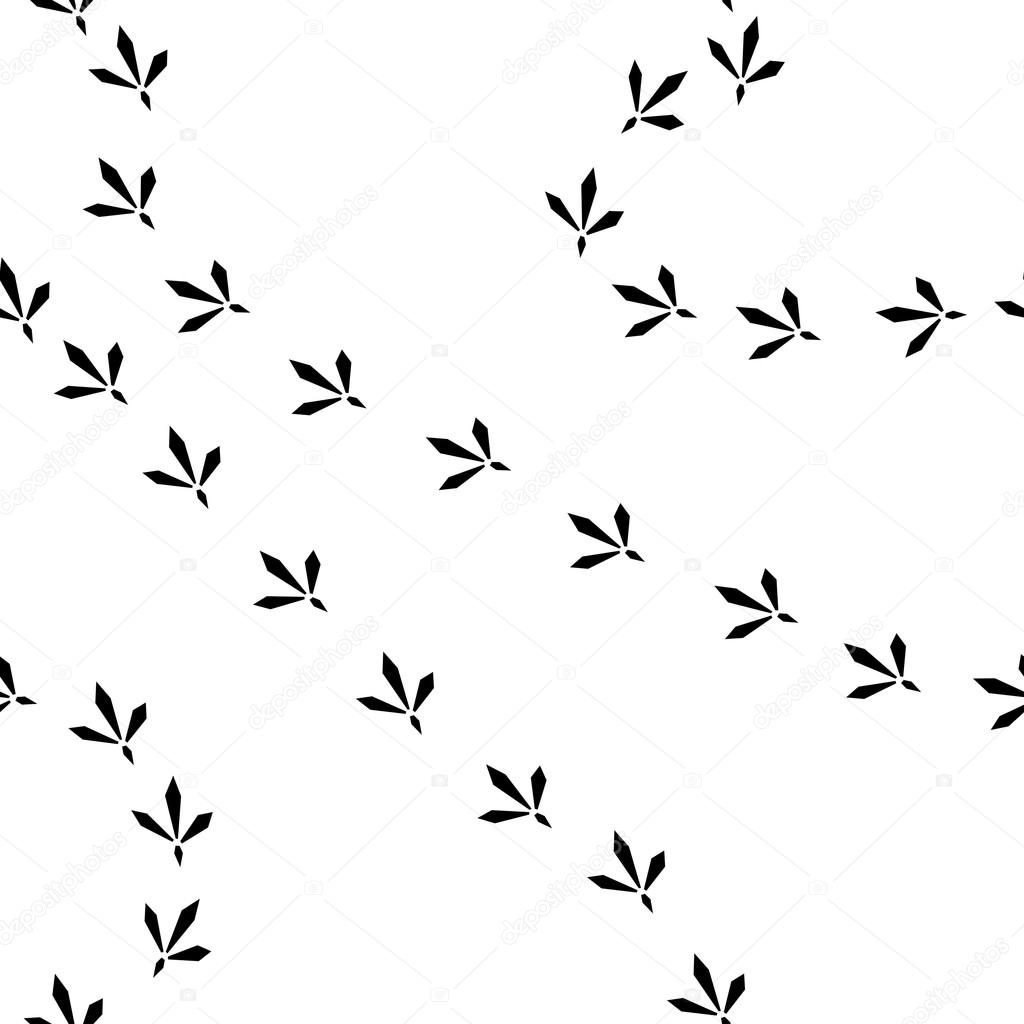 1024x1024 Bird Footprints Seamless Pattern Stock Vector Elecstasyy