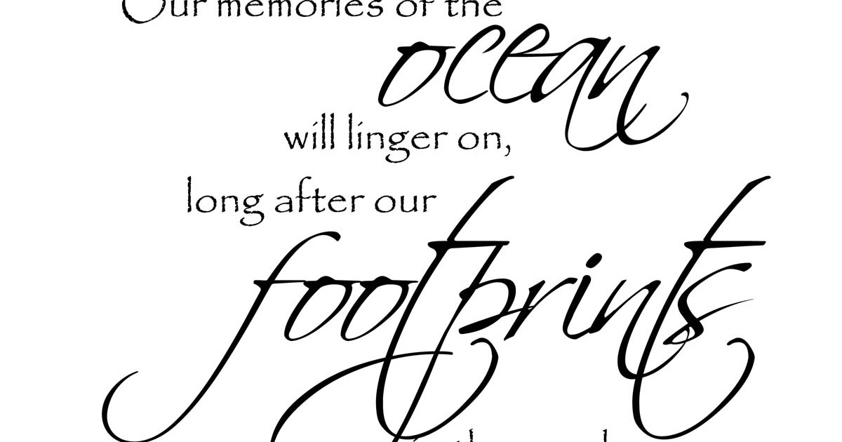 1200x630 Elegant Wordart 2 Footprints In The Ocean Sand
