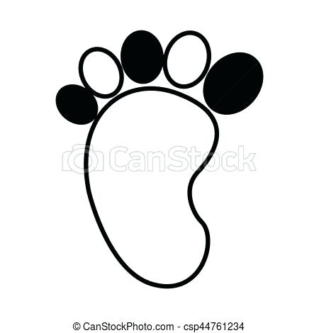 450x470 Baby Footprint Clipart Doodle Baby Footprint Template Drawing