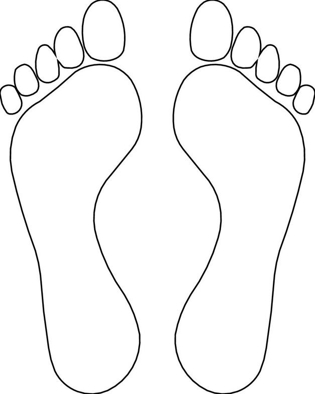 627x784 Footsteps Coloring Pages