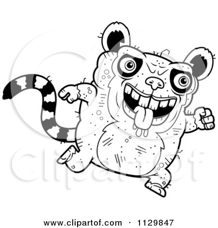 450x470 Lemur Clipart Drawing