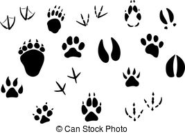 267x194 Bunny Tracks Clip Art Animal Footprints And Tracks Drawing