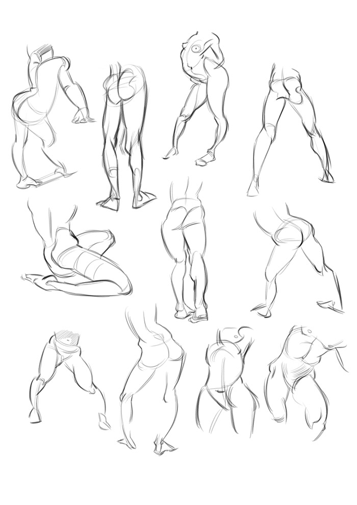 700x990 Life Drawing Dublin Leg Studies