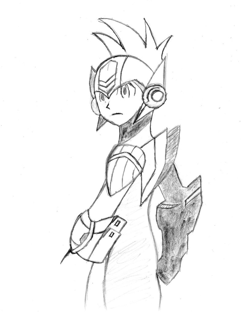 786x1017 Megaman Star Force Drawing By Dimas Novus