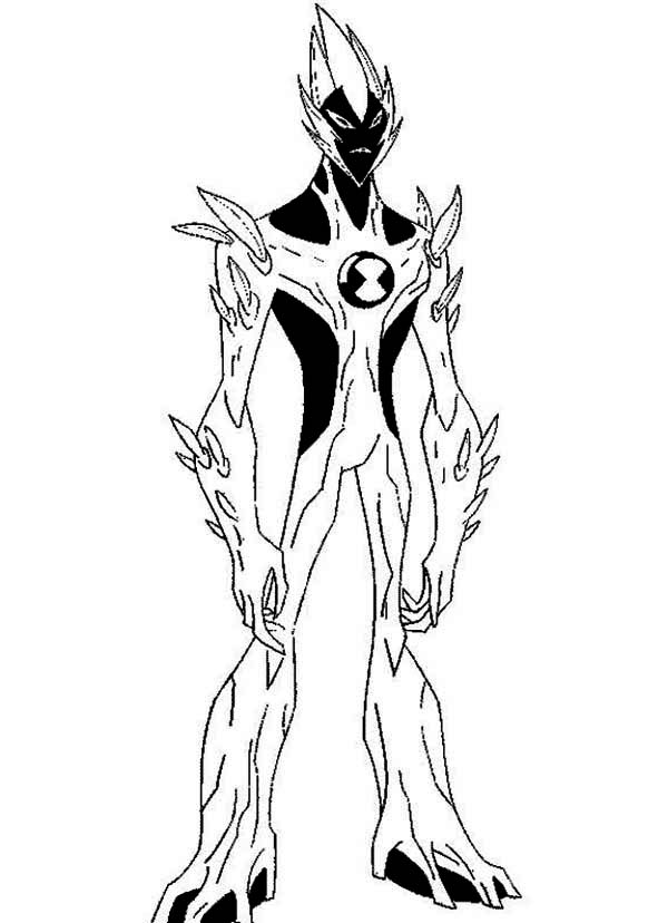 600x828 Swampfire From Ben 10 Alien Force Coloring Page