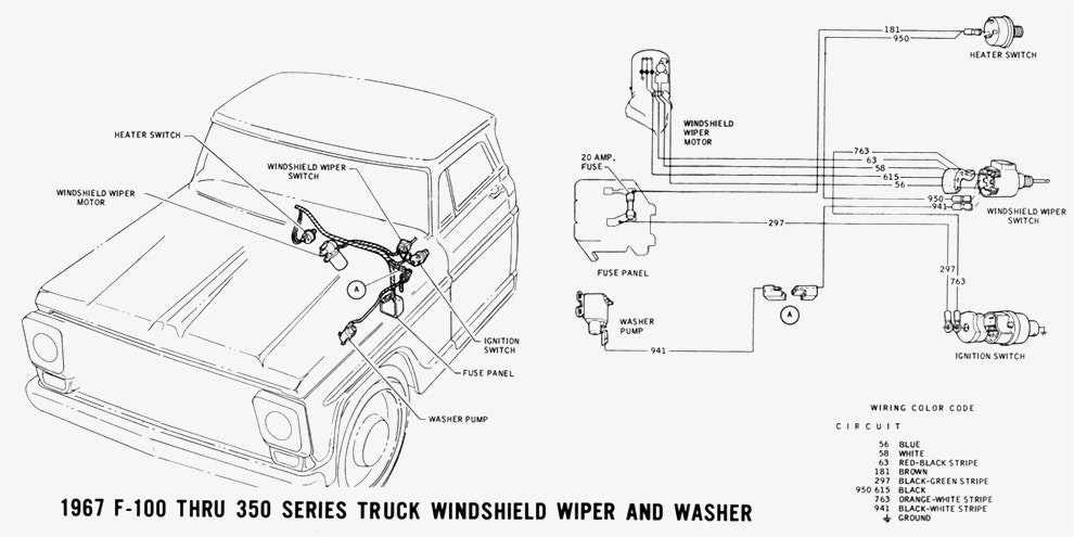 1967 Ford F100 Wiring Diagram