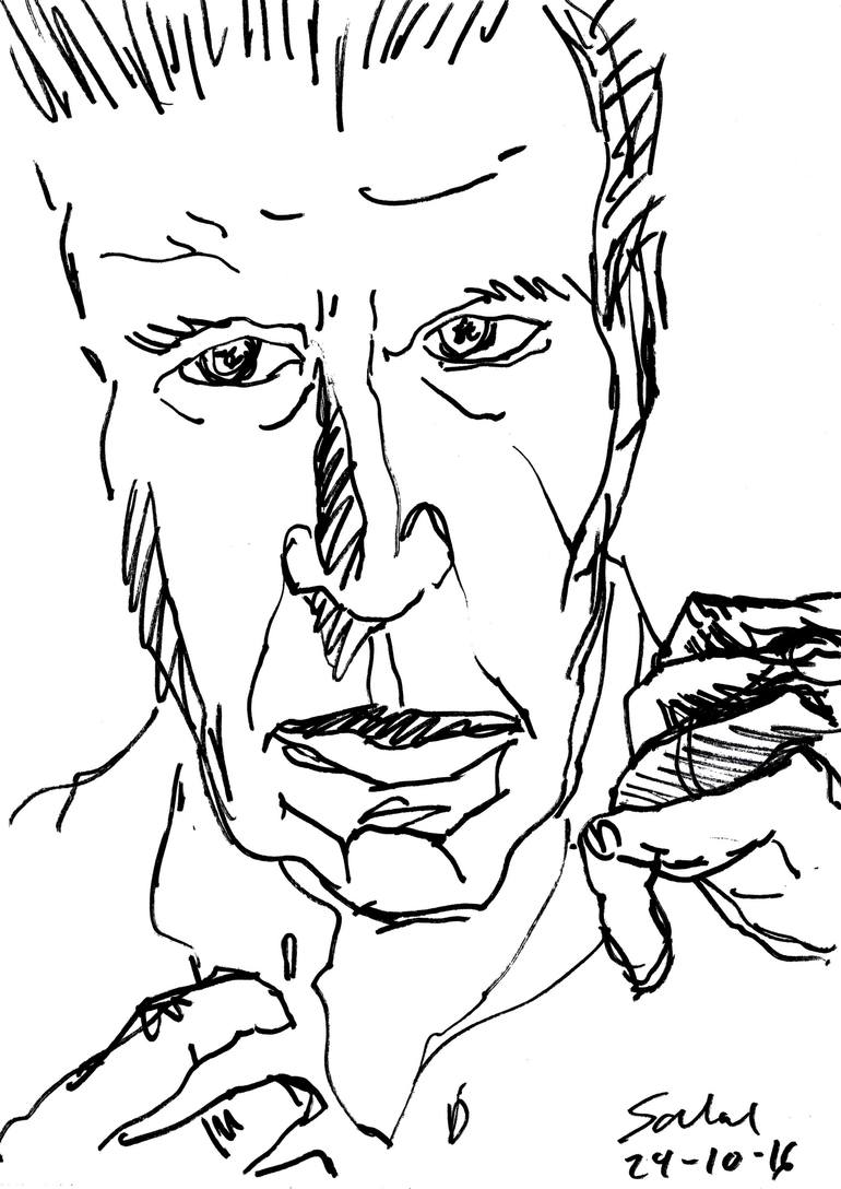 770x1088 Saatchi Art Man Putting His Shirt On (Harrison Ford) Drawing By