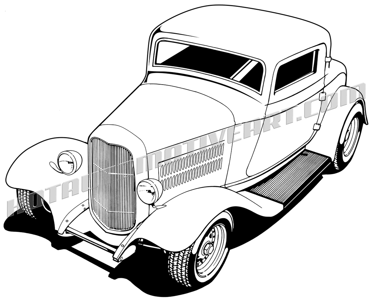 1200x967 32 Ford Three Window Coupe Clipart, High Quality