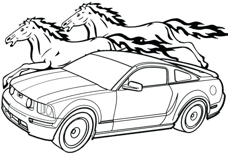 736x500 Mustang Coloring Pages Mustang Coloring Pages To Print Free