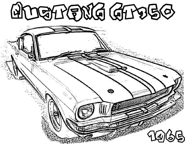 600x464 Mustang GT 350 Car Coloring Pages Best Place To Color