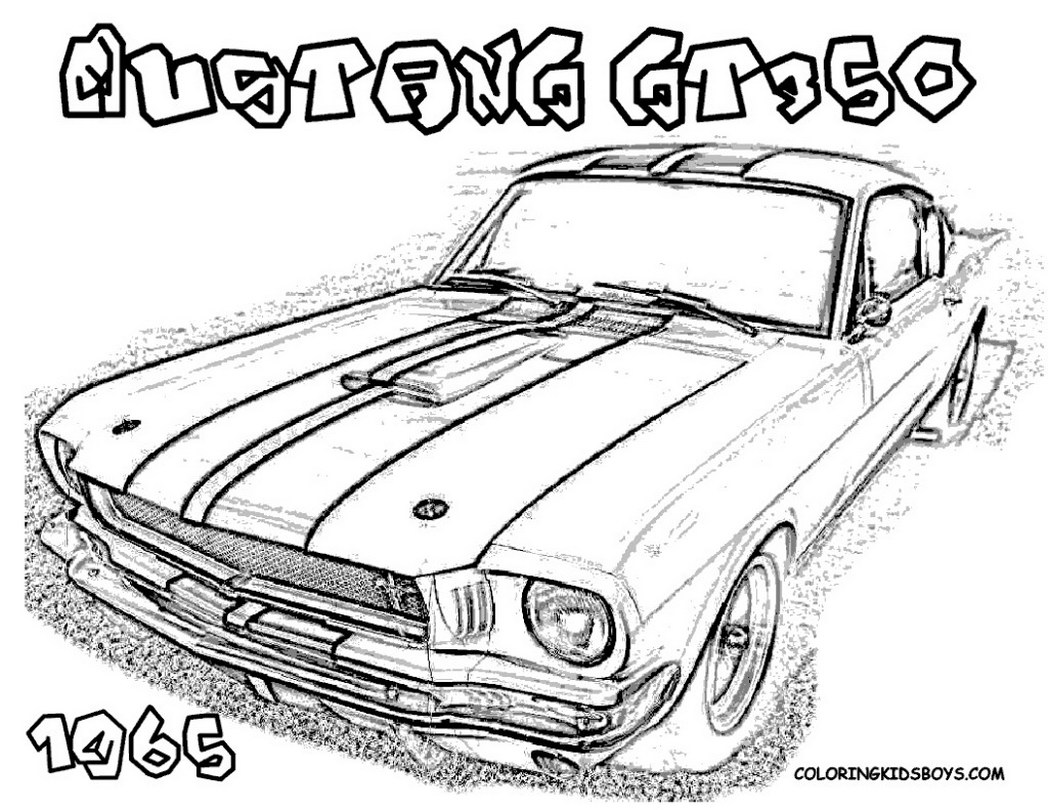 how to draw a mustang gt