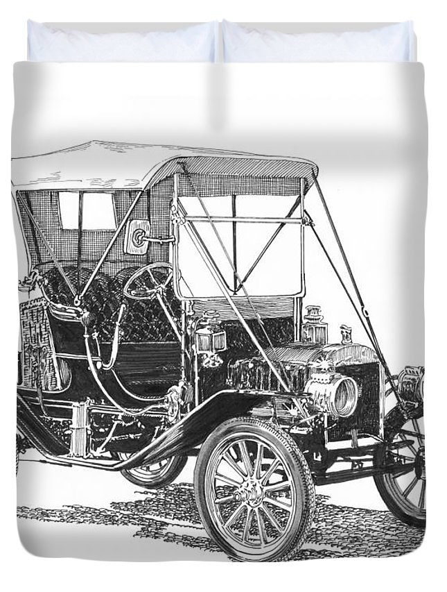 645x853 Ford Model T Tin Lizzie Duvet Cover For Sale By Jack Pumphrey