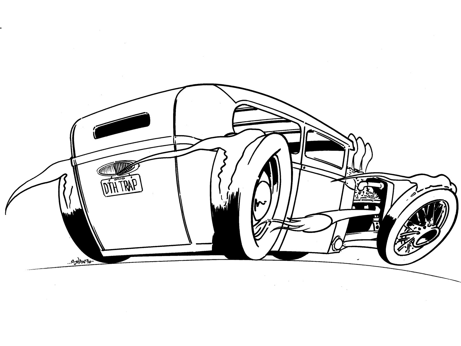 1600x1200 How To Draw A Model T Ford