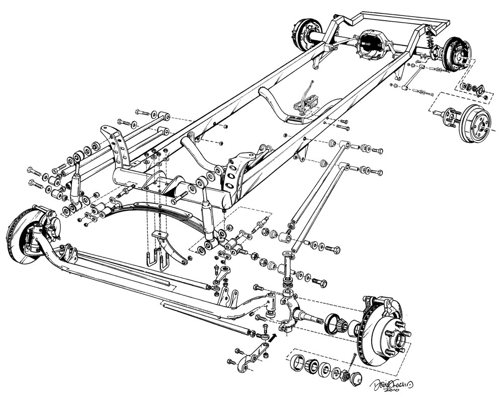 Ford Model T Drawing At Free For Personal Use Image About Wiring Diagram On Vw Golf Front Suspension 1000x795 Speedway Deluxe 1927 Bare Frame Assembly
