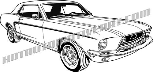 ford mustang drawing at getdrawings free for personal use ford 61 Ford Fairlane 500x235 1968 ford mustang hardtop clip art buy two images get one image