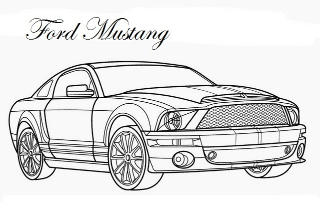 640x405 Mustang Coloring Pages