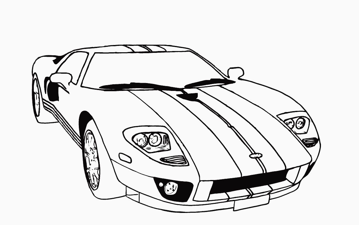 1189x745 Car Coloring Pages Best Of Ford Mustang Page Printable General