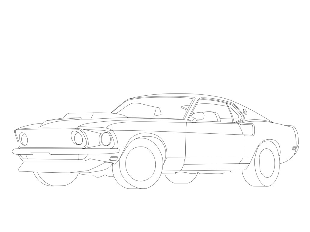 Auto Ausmalbilder Ford : Ford Mustang Drawing At Getdrawings Com Free For Personal Use Ford