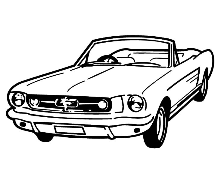 734x600 Coupe Car Mustang Coloring Pages Best Place To Color