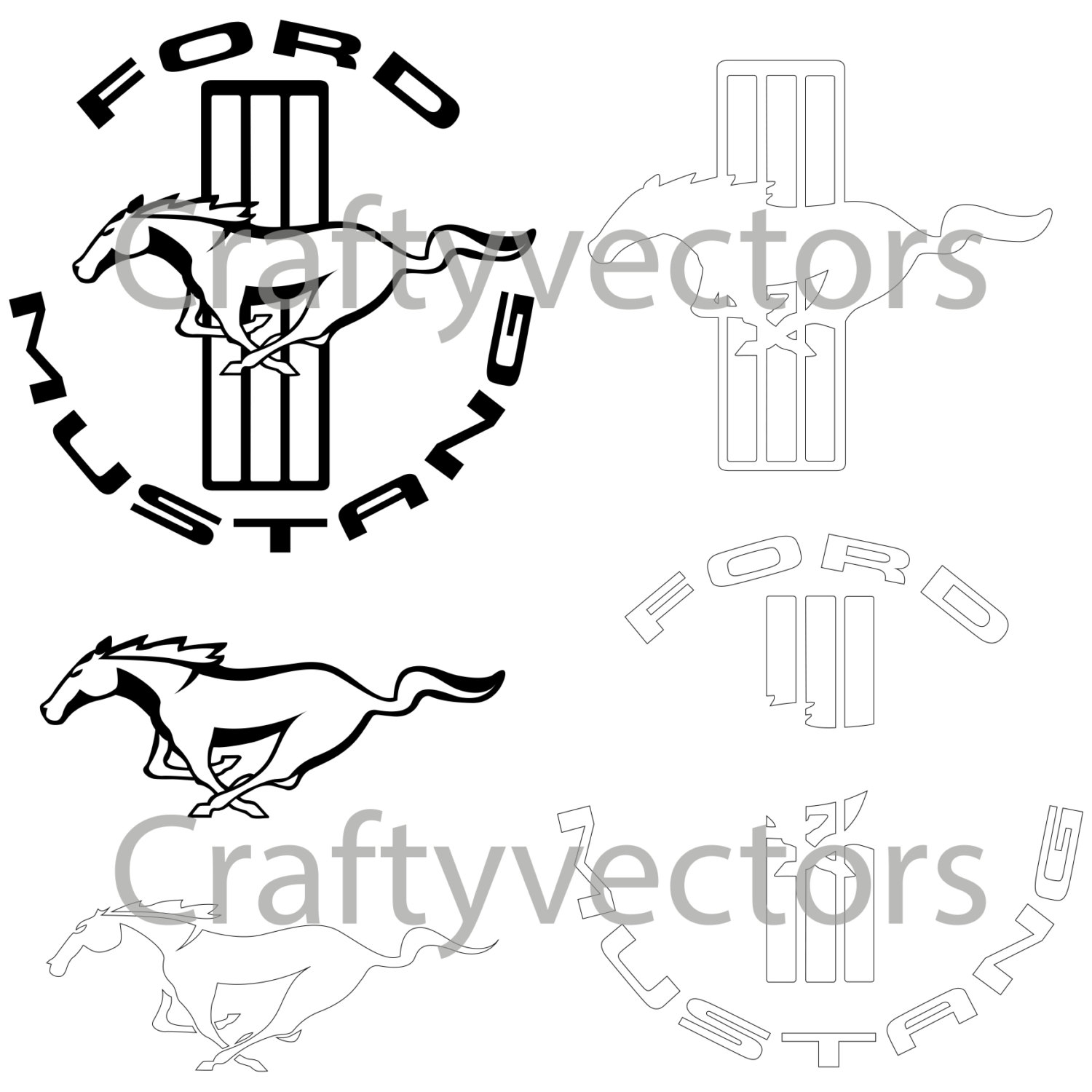 1500x1500 Ford Mustang Logo Vector Group