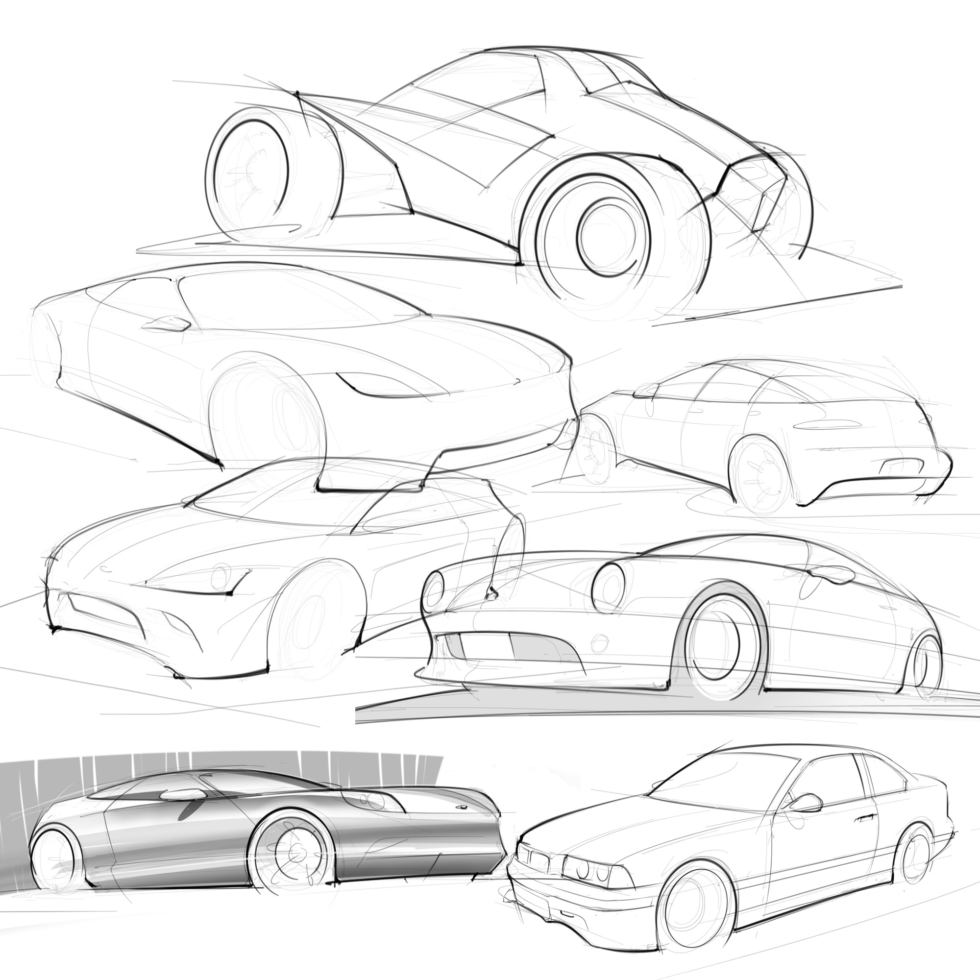 2000x2000 Getting Serious About Being A Great Automotive Illustrator