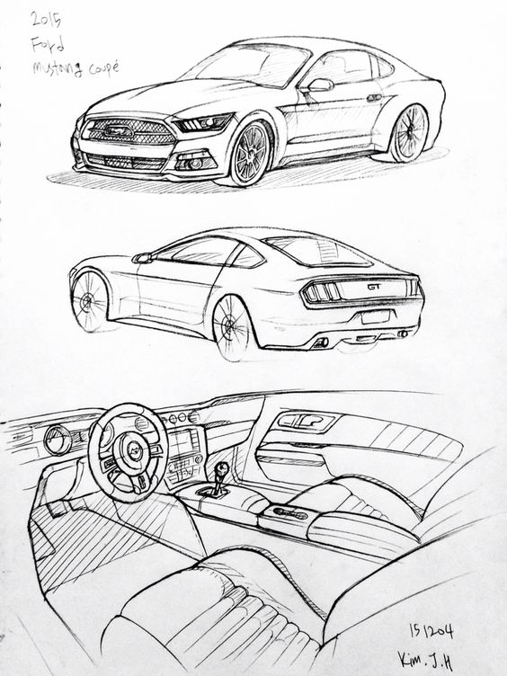 564x752 Vectores Ford Mustang