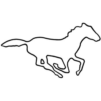 Charming 350x350 Dakota Collectibles Embroidery Design Mustang Outline 5.81 Inches