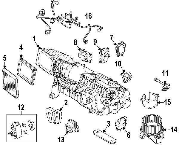600x489 10 12 Ford Mustang Blend Door Actuator Motor Ar3z19e616a Genuine