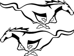 300x229 Ford Mustang Horse Vinyl Decal Sticker Left And Right Ebay