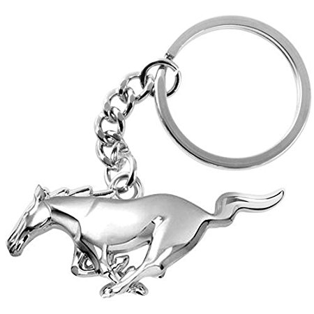 450x450 Ford Mustang 3d Pony Chrome Metal Key Chain Automotive