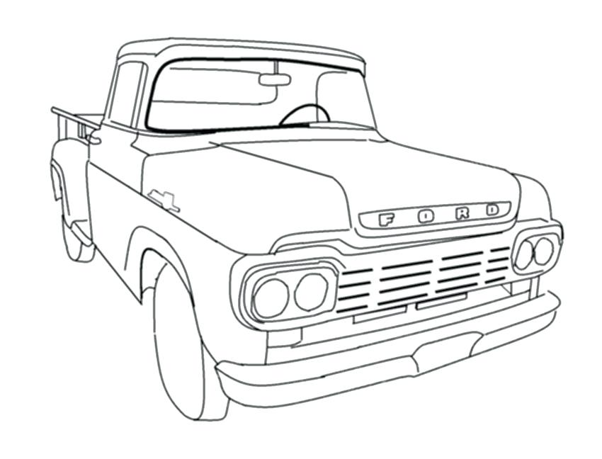 850x648 Old Ford Coloring Pages Old Time Ford Truck Coloring Pages