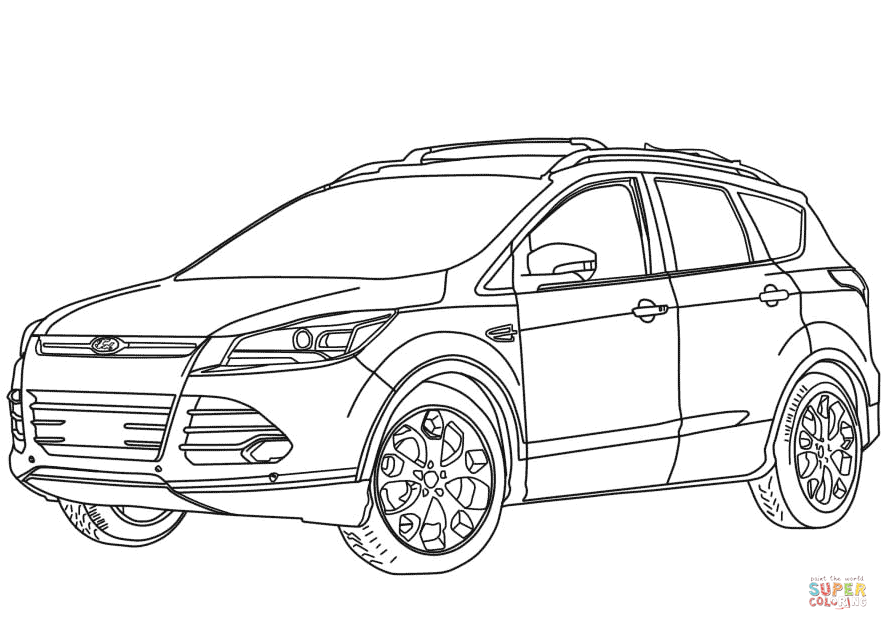 888x630 2014 Ford Escape Coloring Page Free Printable Coloring Pages