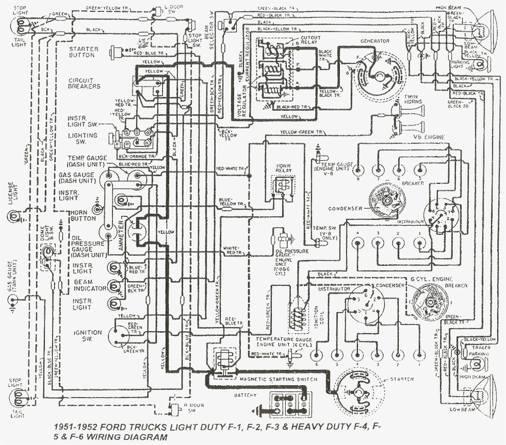 Ford Truck Drawing At Free For Personal Use 1949 1951 Dash Wiring Diagram 990x872 Best Technical Drawings