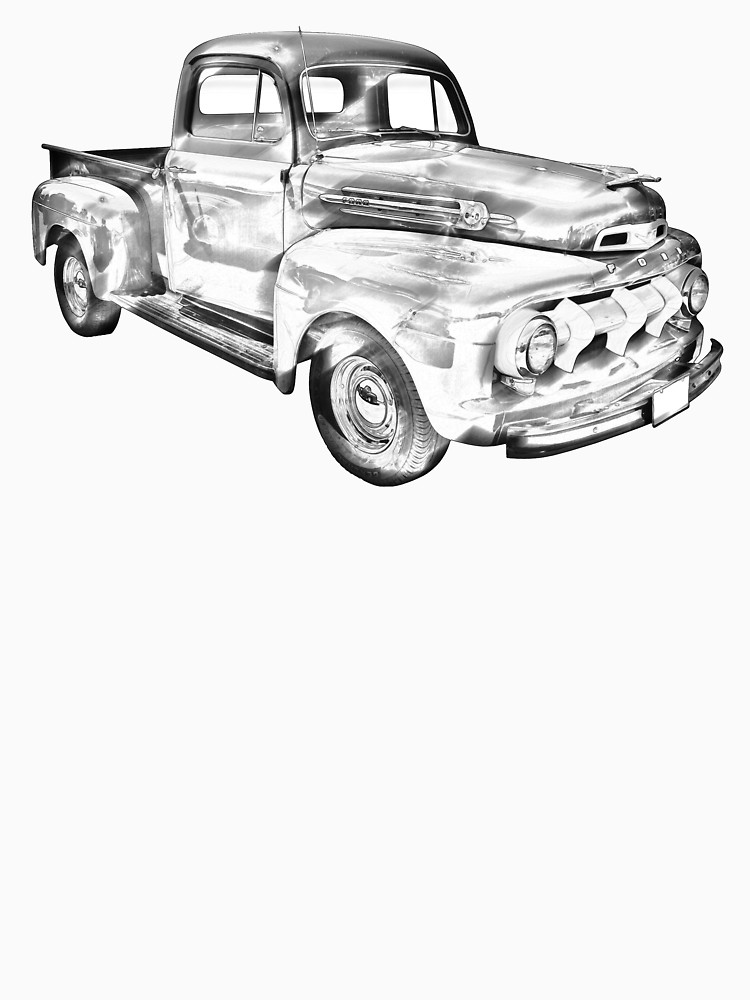 750x1000 1951 Ford F 1 Pickup Truck Illustration Unisex T Shirt By
