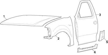 ford truck drawing at getdrawings free for personal use ford Ford F-150 Trailer Wiring Harness 462x234 front steel body parts 1997 03 ford f1501997 99 ford f2502004