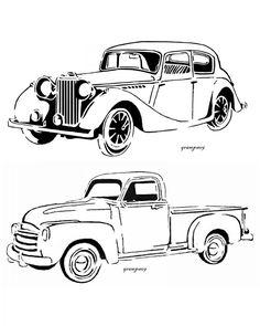 236x295 Old Ford Truck Drawing Old Trucks Ford Trucks