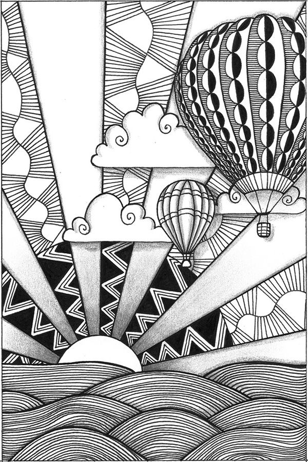 Foreground Middleground Background Drawing