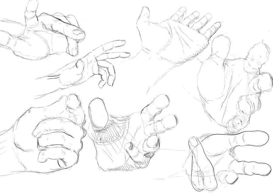 900x636 Foreshortening Hand Study By Ocarinar