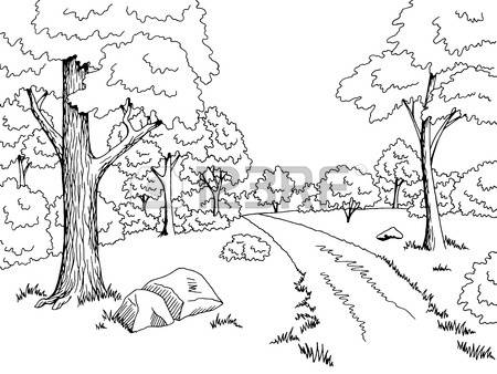 450x338 Forest Background Clipart Black And White