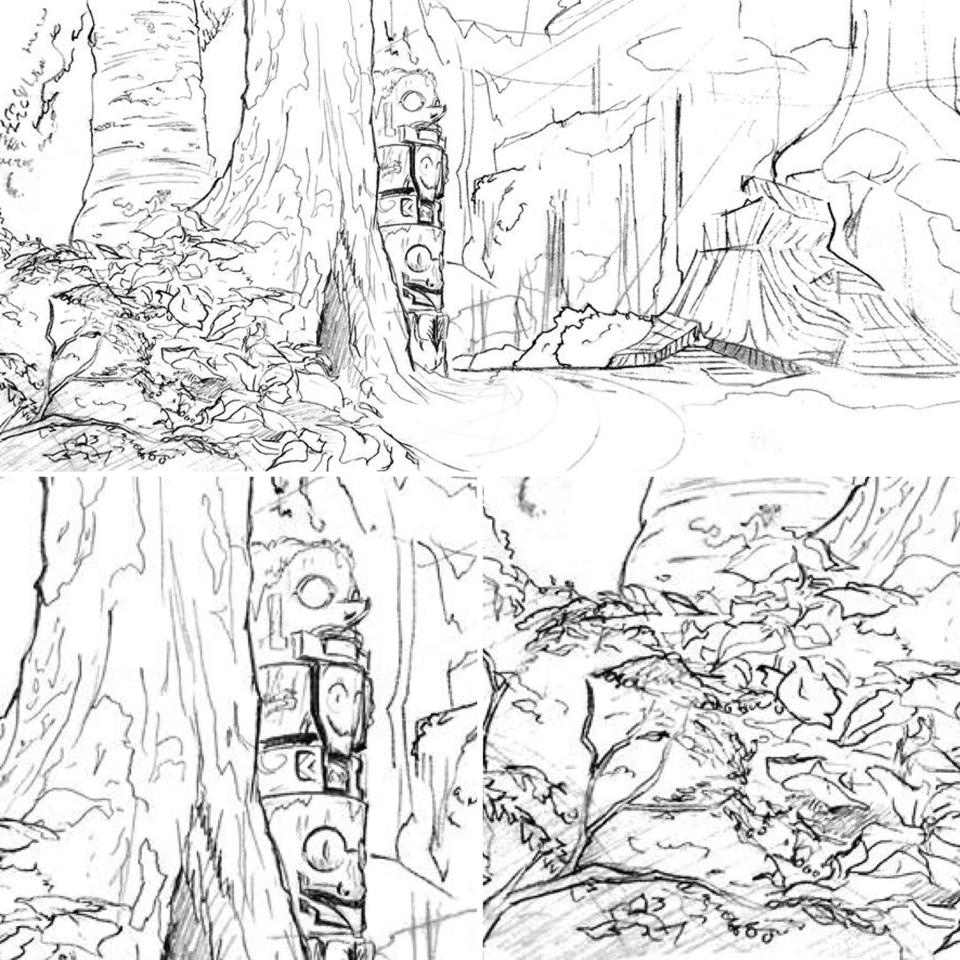 960x960 Forest Layout Linework
