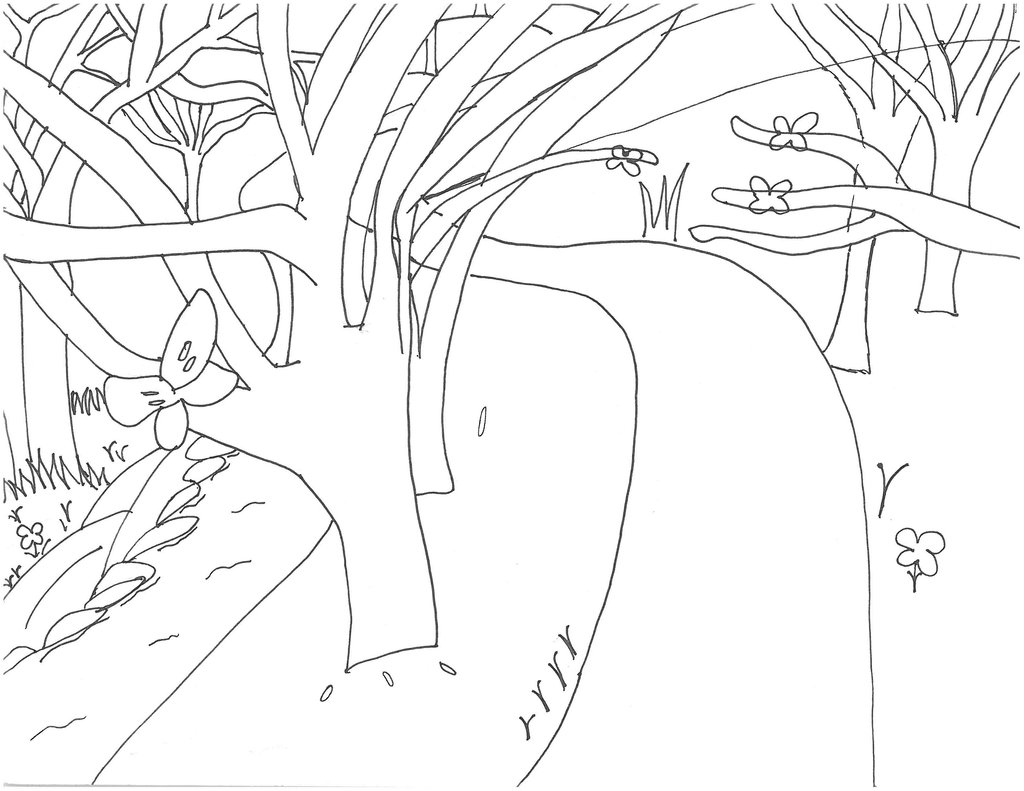 1024x791 Shifters Momentia Forest Path Background1 (Sketch) By Samuxchan